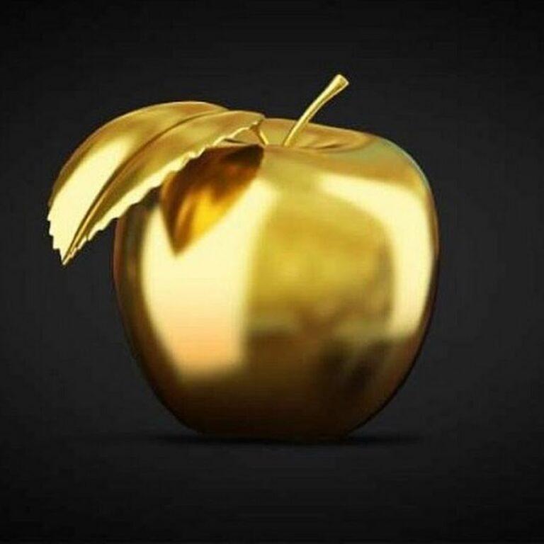 Съедобное золотое яблоко