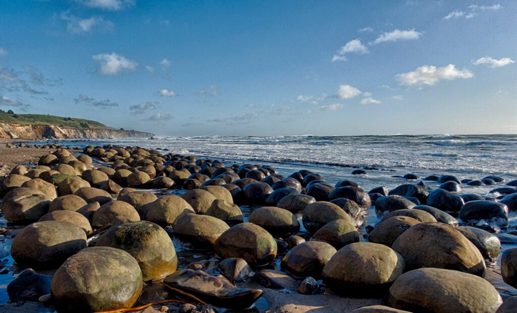 Bowling Ball Beach, Калифорния, США