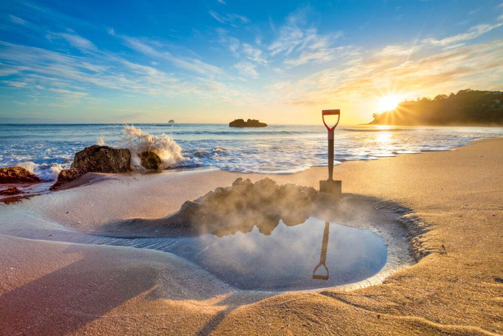 Горячий пляж, Новая Зеландия
